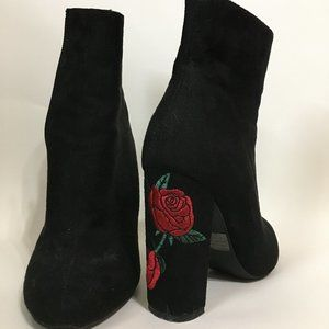 Black Booties with Roses